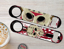"""PAIR /""""Jason Voorhees Friday the 13th Mask Thick Rubber-Neoprene CAR COASTER 1"""