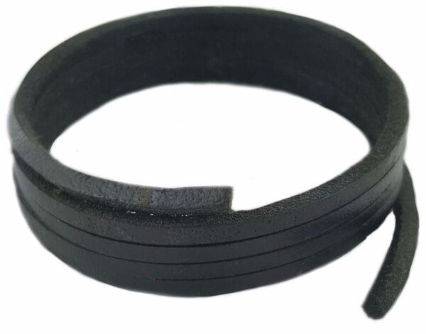 100% Verdadero Zapato De Piel Negro & Cordones De Botas 3mm Cuadrado Cordones 75cm Largo