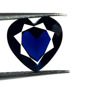 Valentine's Gift 2 Ct Blue Sapphire Loose Gemstone Natural Heart Shape Certified