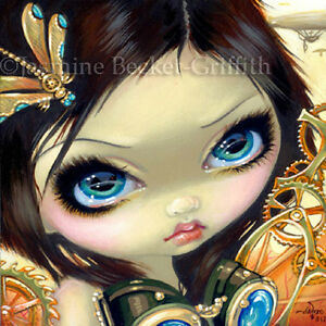 Fairy-Face-183-Jasmine-Becket-Griffith-Art-Steampunk-Fantasy-SIGNED-6x6-PRINT