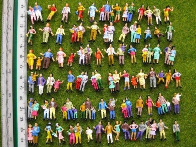 P100W 100pcs Model Trains 1:87 Painted Figures HO TT