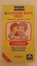 Hugga Bunch VHS A Golden Book Video Hugs from the Heart Huggins and Kisses