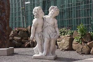 Parchen Paar Putten Figur Madchen Und Junge Skultur Fur Den Garten Po 1390 Ebay