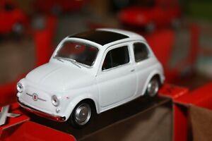 FIAT-500-F-BIANCO-1965-SCALA-1-43-WELLY