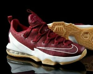 sports shoes fe9a7 3cf87 Details about Nike Lebron 13 XIII Low Team Red Sail Size 9.5 or 10 Air  Burgundy Gum 2016