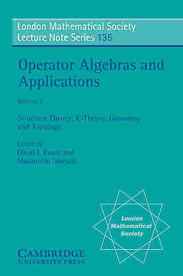 1 of 1 - Operator Algebras and Applications: Volume 1-ExLibrary