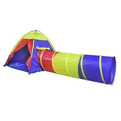 Kids Pop Up Adventure Play Tent House Tunnel Set Indoor Outdoor Garden Childrens