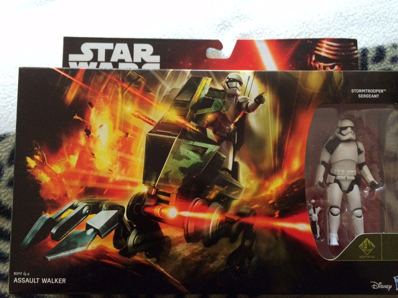 Star Star Star wars the force awakens assault walker vehicle and  stormtrooper  figure set 52890f