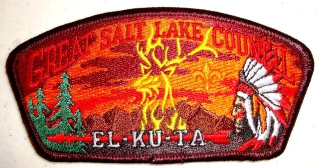EL KU TA LODGE OA 520 GREAT SALT LAKE COUNCIL UT BSA UTAH SERVICE FLAP CSP TOUGH