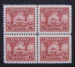 Sc# 256 - KG VI War Issue 1942-43 - 8 cents Farm Scene - MNH