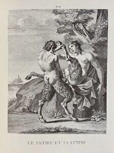 EROTICO DIAVOLO SATIRO Faun Devil Agostino Carracci vagina barocco foresta Dio atto