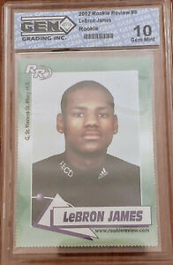 2003-04 LEBRON JAMES ROOKIE REVIEW CARD RC GRADED GEM MINT 10 - not PSA or BGS