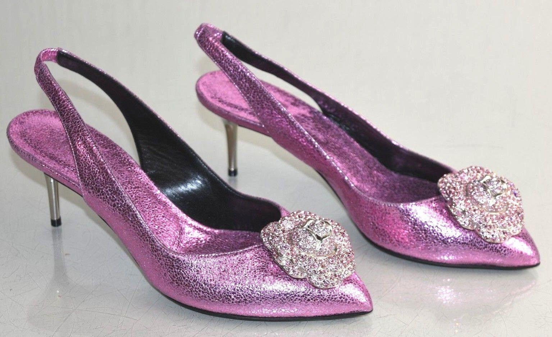 presa  1190 NEW Oscar de la Renta ODETTE PUMPS rosa rosa rosa rosa Jeweled scarpe Wedding 37  fino al 42% di sconto