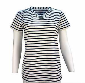 Vineyard-Vines-Women-039-s-Short-Sleeve-Stripe-Open-Neck-Tee-T-shirt-49-50