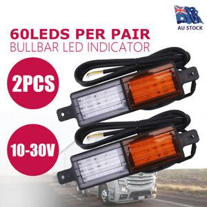2X-Sealed-Bullbar-Lights-Set-Front-Indicator-Park-LED-Bull-Bar-Light