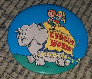 Ringling-Bros-Barnum-amp-Bailey-Circus-World-ELEPHANT-3-Inch-Pinback-Button-Pin