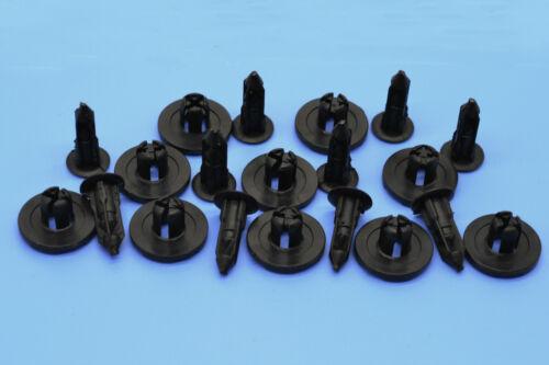 10 X BMW BLACK PLASTIC FASTENERS TRIM RETAINING CLIPS