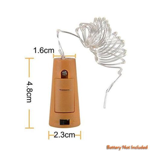 1M 2M 3M Cork Shaped LED Copper Wire String Light Wine Bottle For Xmas Decor