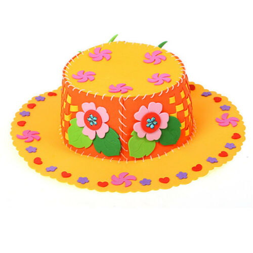 Children Kids Craft Toy Cute DIY Handmade Hat Puzzle Educational Toy