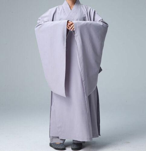 Cotton Shaolin Buddhist Monk Dresses Meditation Robe Gown Kung Fu Uniform Bt15