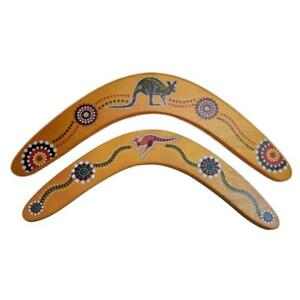 Australian-Made-Returning-Boomerang-Crocodile-Kangaroo-Aboriginal-33-14CM