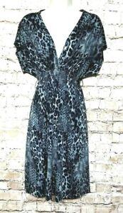 BISOU-BISOU-Women-039-s-Dress-Size-8-Black-Gray-Cross-V-neck-Party-Cocktail-Dress