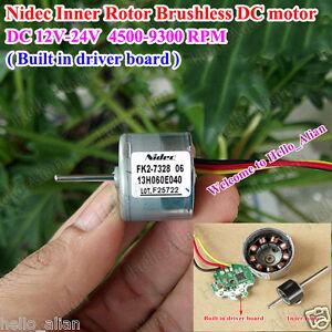 Mini Nidec Inner Rotor Brushless Motor Dc12 24v Pwm Speed Control Driver Board