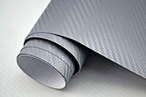 6 25 m 3d carbon folie silber blasenfrei 100 x 152cm. Black Bedroom Furniture Sets. Home Design Ideas