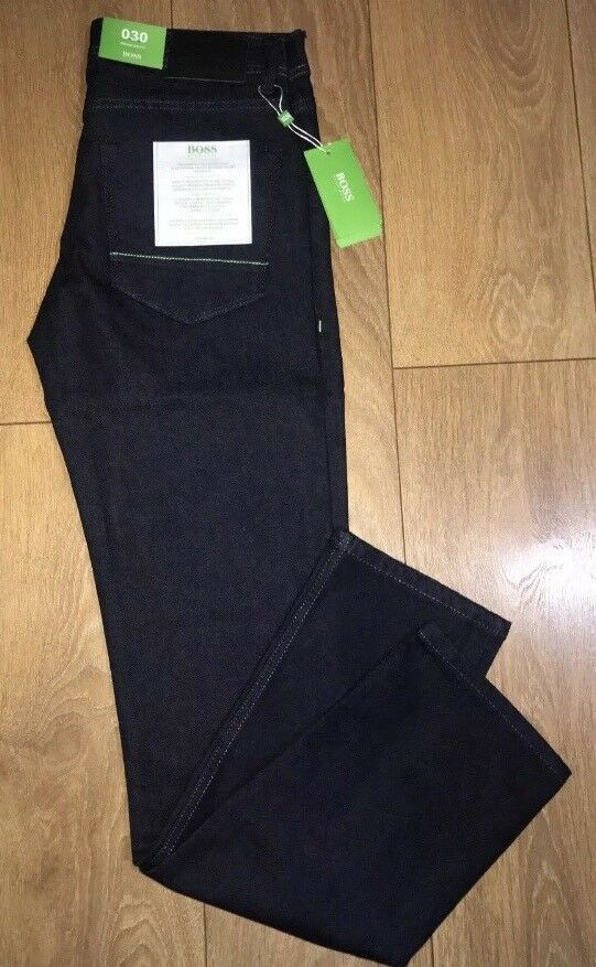 "Hugo Boss Green Label Navy BNWT New Jeans 36"" Inch Waist 32  Leg"