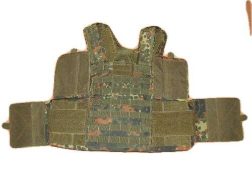 MFH Flecktarn Camo Tactical MOLLE RAV RICAS Armour Carrier Vest and Pouch Set