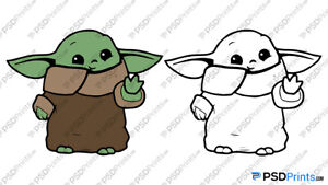 Download Baby Yoda SVG - Cuttable Cricut - Silhouette Cameo Cut ...
