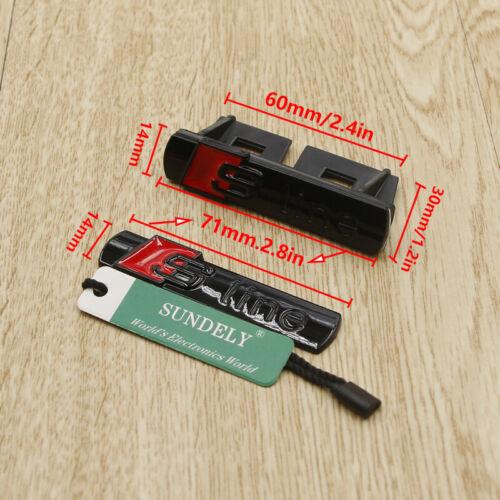 4x Gloss Black S line GriIll Sport Emblem Badge Body Decals For Audi S8 Q3 Q5 Q7
