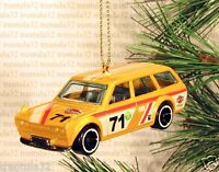 1971 Datsun 510 Station Wagon '71 Christmas Ornament Yellow Race Car Rare Xmas