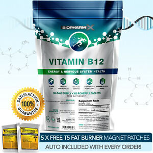 VITAMIN-B12-1000MCG-STRONGEST-PHARMA-GRADE-FATIGUE-TIREDNESS-IMMUNE-STRENGTH