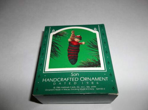 NEW Hallmark Hancrafted Ornament Son 1986 QX4303