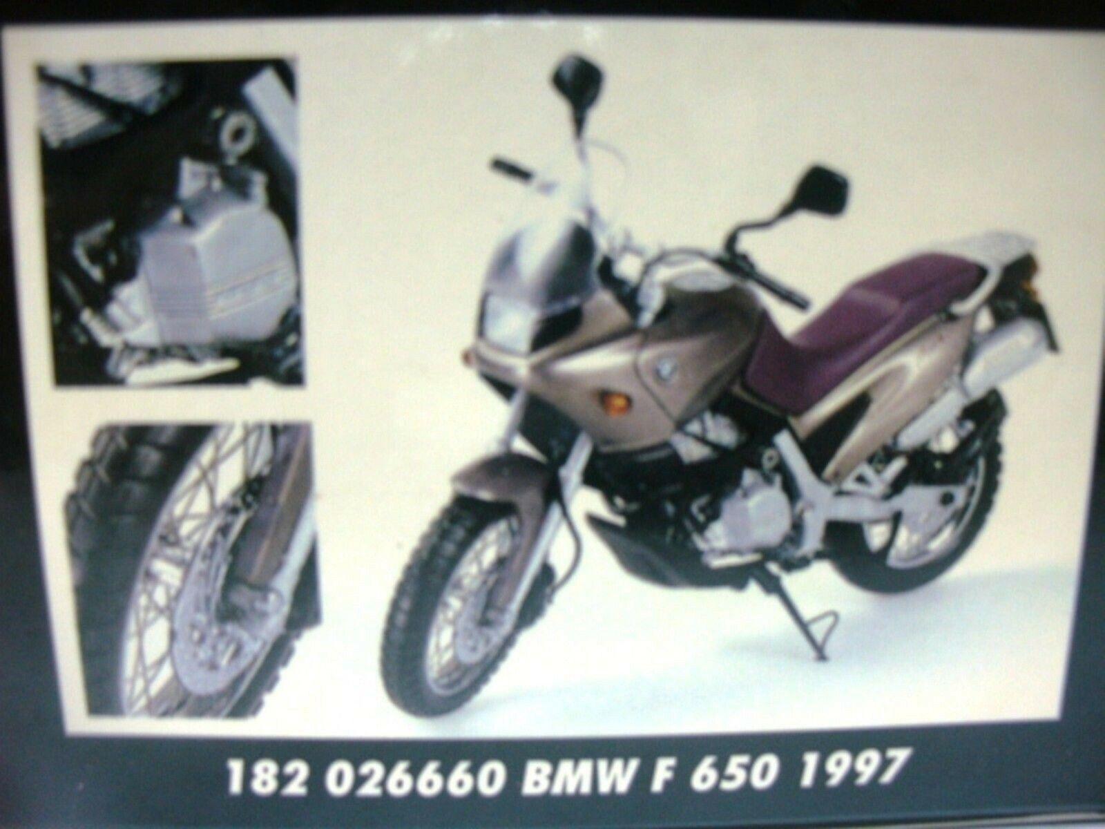Wow extremadamente raro BMW F650 Funduro 1997 Mokka Mt 1 1 1 18 Minichamps-R1100 1200 R32 9bcc09