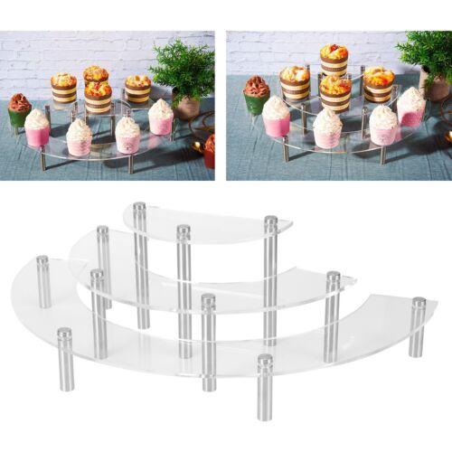 3 Tier Acrylic Cake Stand Dessert Cupcake Display Rack Holder Wedding Christmas