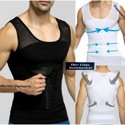 Mens Best Compression Shaper Vest for Man Boobs Gynecomasita Underwear Tank Top