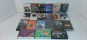 Lot-Of-21-Christmas-Cassette-Tapes-With-The-Original-Cases-Kenny-Rogers-And-More