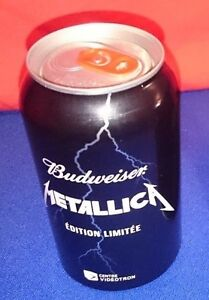 RARE-METALLICA-COLLECTOR-LIMITED-Bud-Budweiser-Quebec-EMPTY-Beer-Can-HardWired