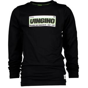 VINGINO Jungen Longsleeve Shirt langarm JATUP deep black Gr.128-176