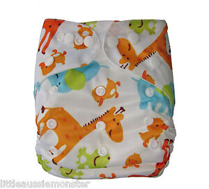 Reusable Modern Cloth Nappy Mcn Insert Cute Animals Frog