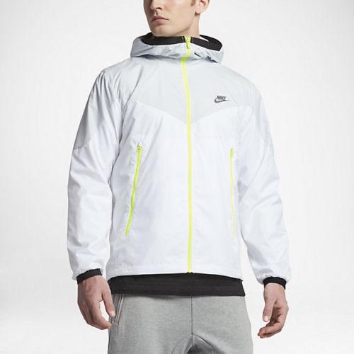 Nike Sportswear Windrunner Packable Water Resistant Windbreaker White  Jacket XXL Regular 2xl