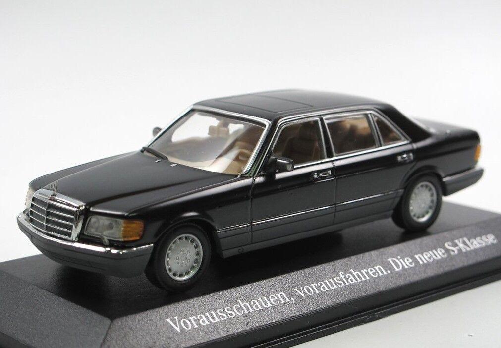 Mercedes 560 SEL W126 noir 1989 1 43 Minichamps