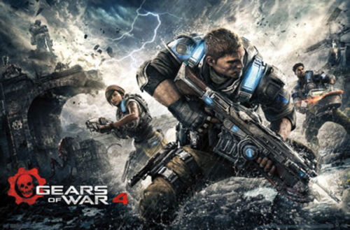 PICTURE PRINT NEW ART GEARS OF WAR 4 POSTER 57X87CM LAMINATED