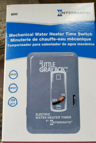 """NEW Intermatic Mechanical Electric Water Heater Timer 250v WH40 /""""Little Gray Box"""