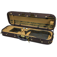 NEW Top Grade Deluxe Quality Solid Wood 4/4 Size Acoustic Violin Fiddle Case W5
