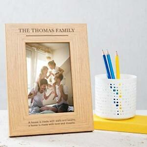 Personalised-Family-Photo-Frame-6x4-7x5-8x6-large-wooden-my-our-family-home-gift