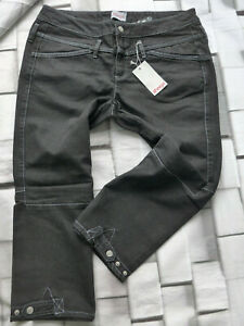 Sheego-Women-039-s-Jeans-7-8-Trousers-Capri-Size-40-to-50-Black-Denim-845