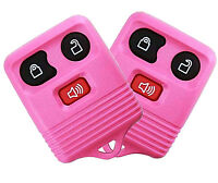 Best 2 Replacement Keyless Entry Remote 3 Button Key For Ford Car Truck Pink